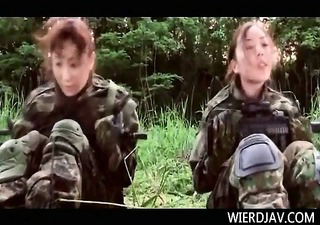 japanese women in the military get hungry for sex